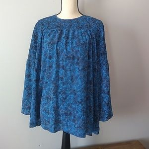 Michael Kors l Radiant Blue Speckled Boho Top